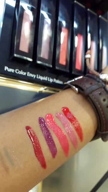 Estee Lauder Pure Color Envy Liquid Lip Potions swatches - www.modenmakeup.com