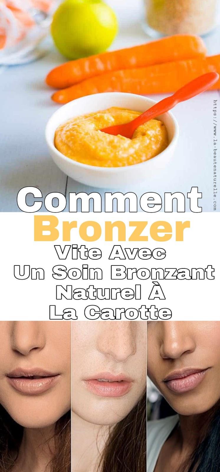 Comment Bronzer Vite Avec Un Soin Bronzant Naturel À La Carotte