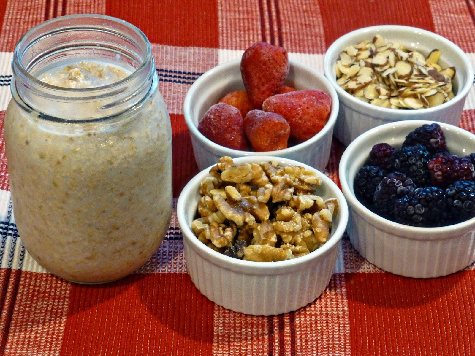 ... Nuts: Mason Jar Salads and More + Strawberry Walnut Breakfast Smoothie