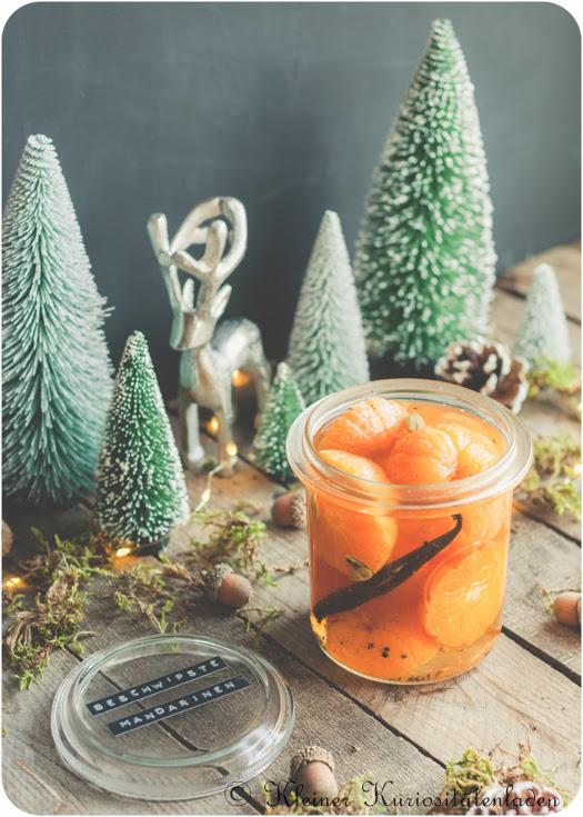 Beschwipste Mandarinen mit Vanille und Kardamom
