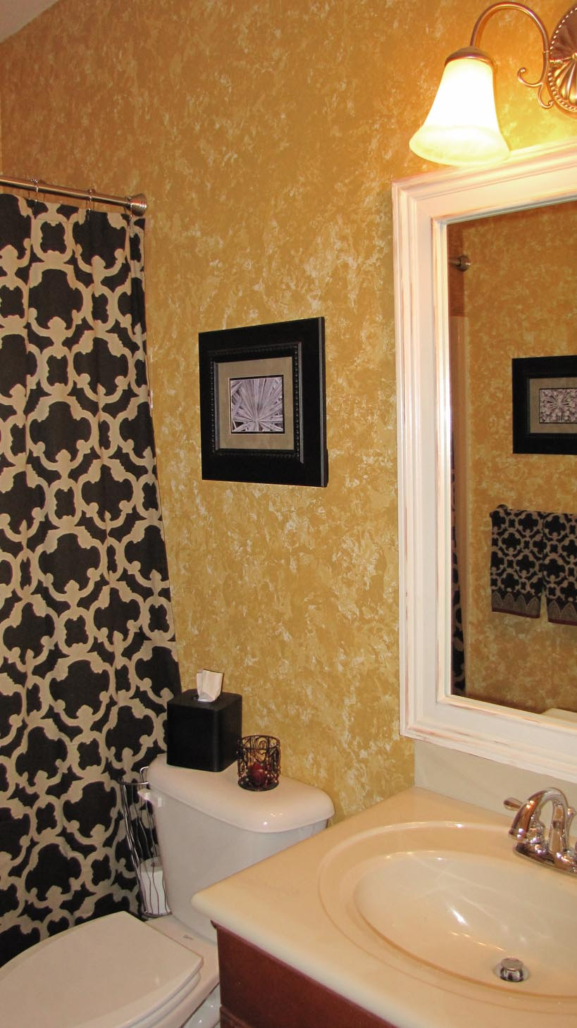 Bathroom Reveal With Framed Mirror Everyday A La Mode Diy Photography Organizing And More