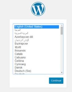 wordpress-setup-language