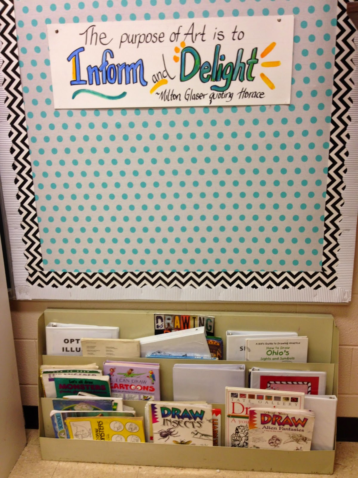 Layer materials to make a bulletin board.