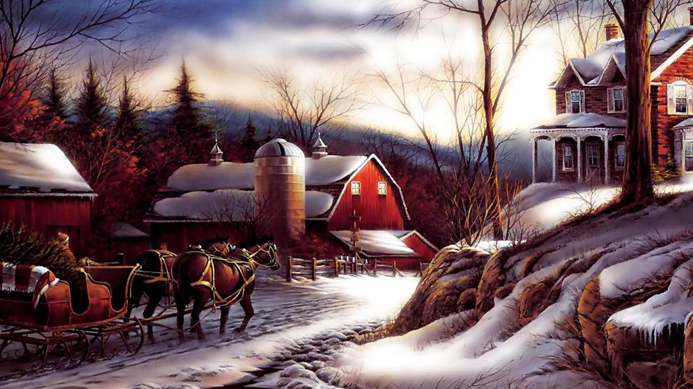 3d Snowy Cottage Animated Wallpaper Free Download Image Wallpapers