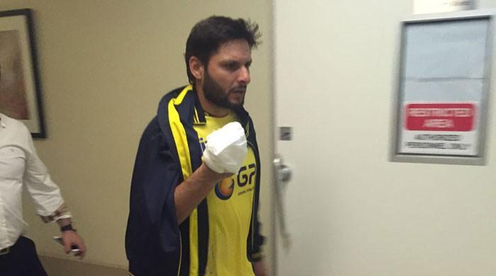 Shahid Afridi Injury in PSL 2017