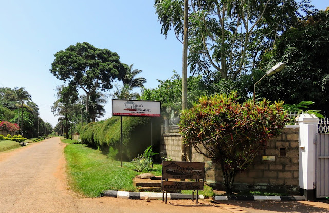 Entrance to Anna's Corner in Entebbe, Uganda