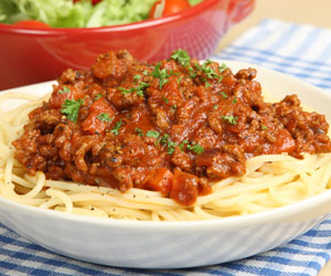 Homemade Spaghetti Bolognaise