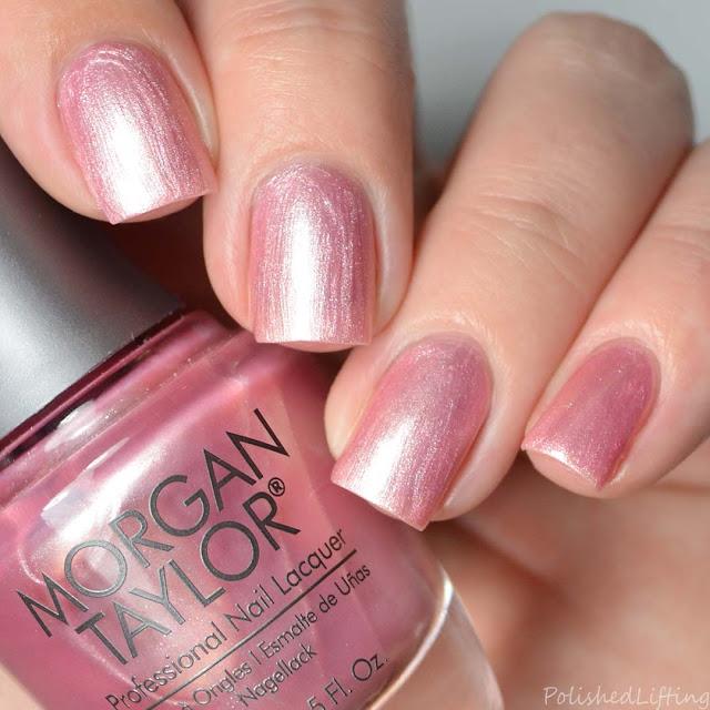 frosty pink nail polish