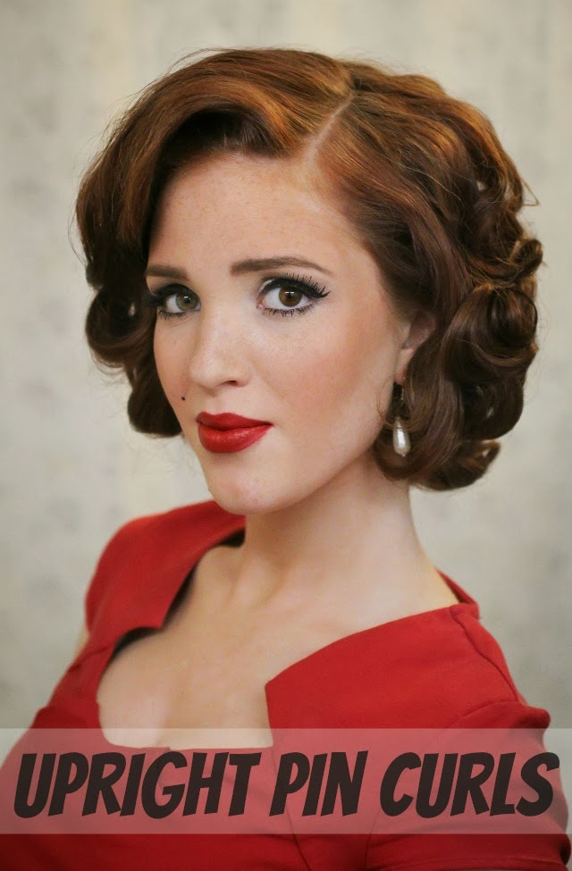 Fabulous The Freckled Fox Modern Pin Up Week 5 Upright Pin Curls Hairstyle Inspiration Daily Dogsangcom