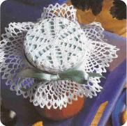 "Adorno para Frasco a Crochet ""Meriendas Festivas"""