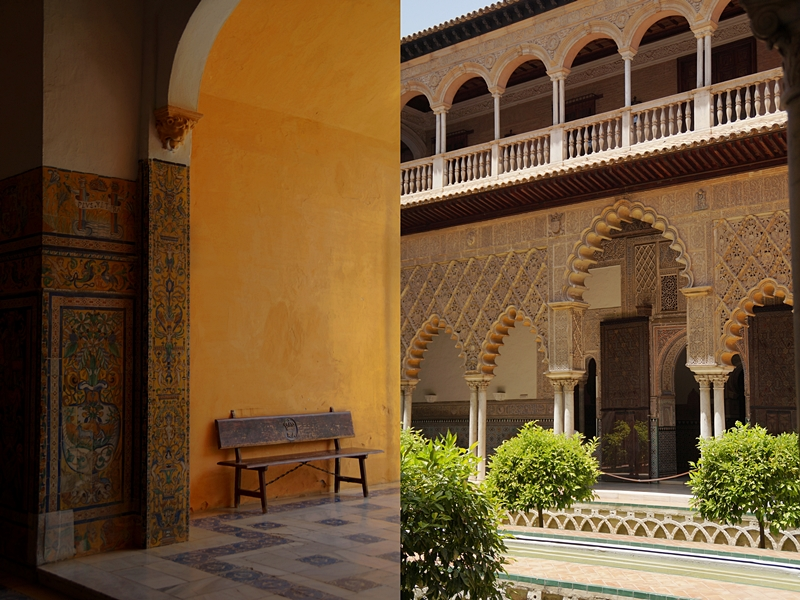 Königspalast Alcázar in Sevilla im maurischen Stil