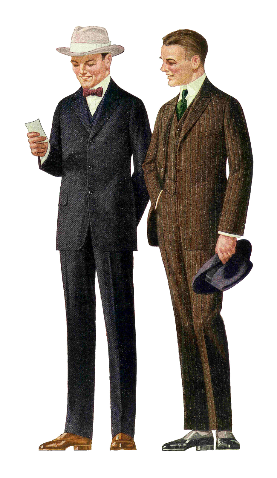 Antique Images: Free Fashion Clip Art: 1915 Men's Suits 2