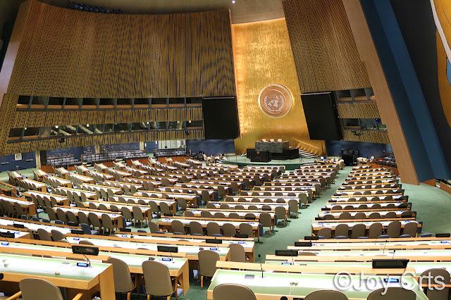 Salle du conseil général de l'ONU, New York