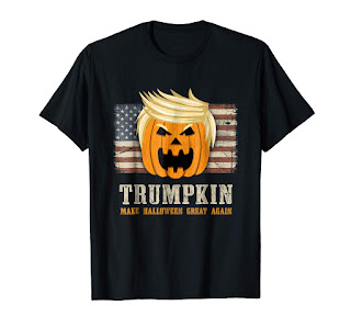 Halloween Trumpkin Vintage US Flag