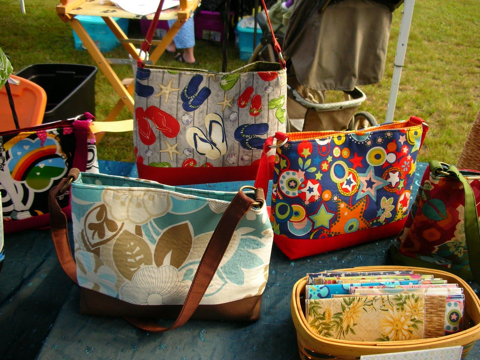 Display Of Handbags At Local Craft Fair