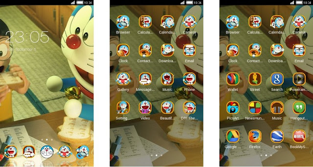 Tema Doraemon Android Terbaru Stand By Me 3D