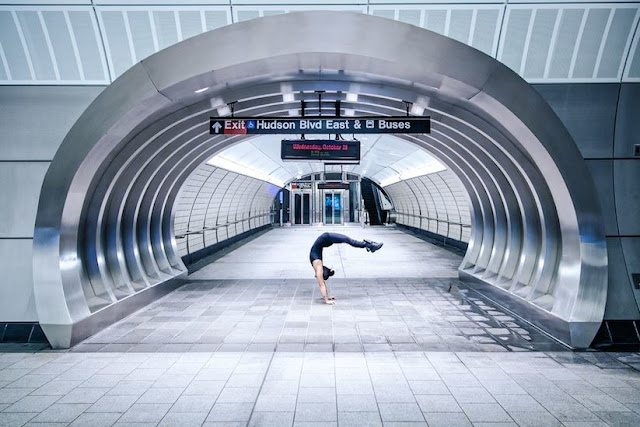 Images of a stunning movements of the Urban Yoga