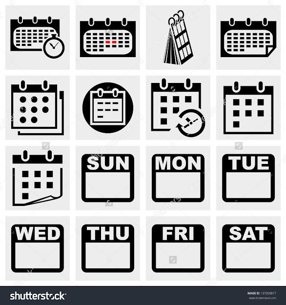Calendar Vector Icons Set