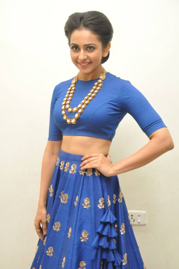 Rakul Preet Singh Latest Photo Shoot In Hot Blue Dress