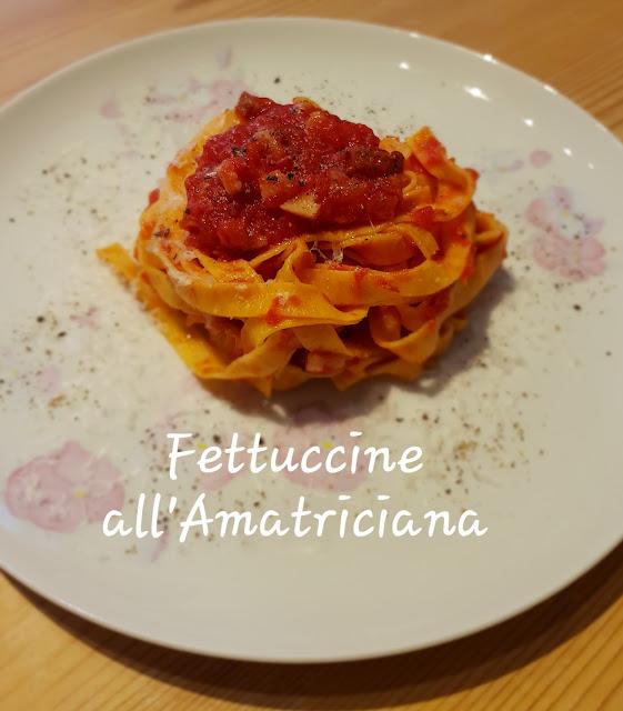 Fettuccine all'Amatriciana