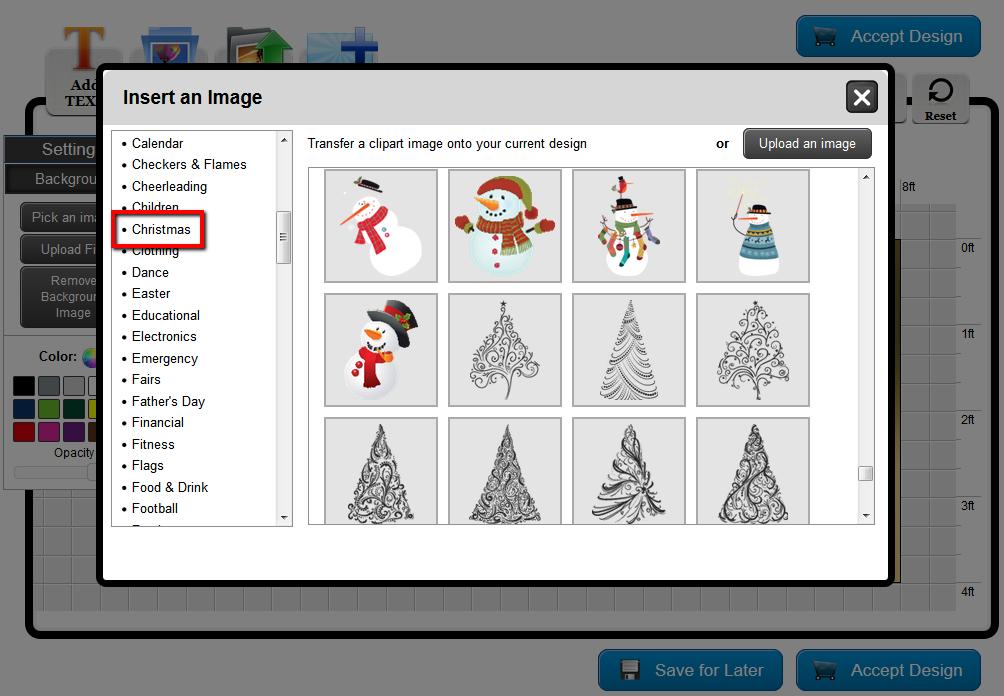 Banners.com Online Designer Christmas Clip Art