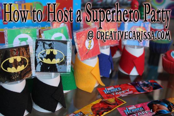 Superhero Birthday Party Creative Green Living