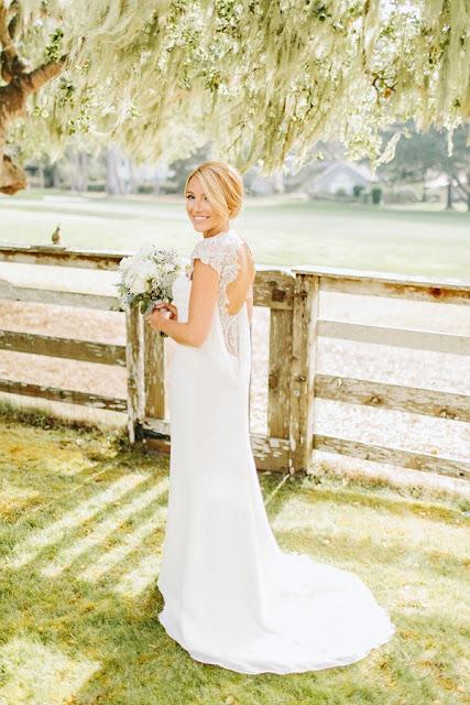 vestidos de novia sencillos con cola