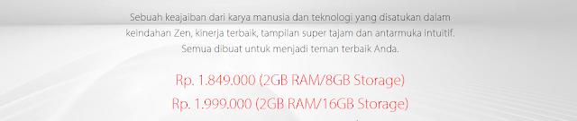 Harga Asus Zenfone 2 Laser 5.0 ZE500KG