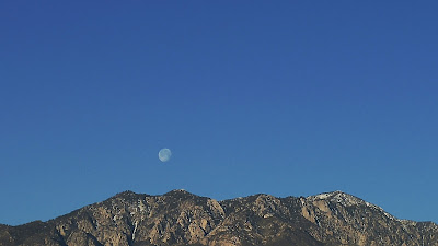 Morning Moon setting over San Jacinto Peak