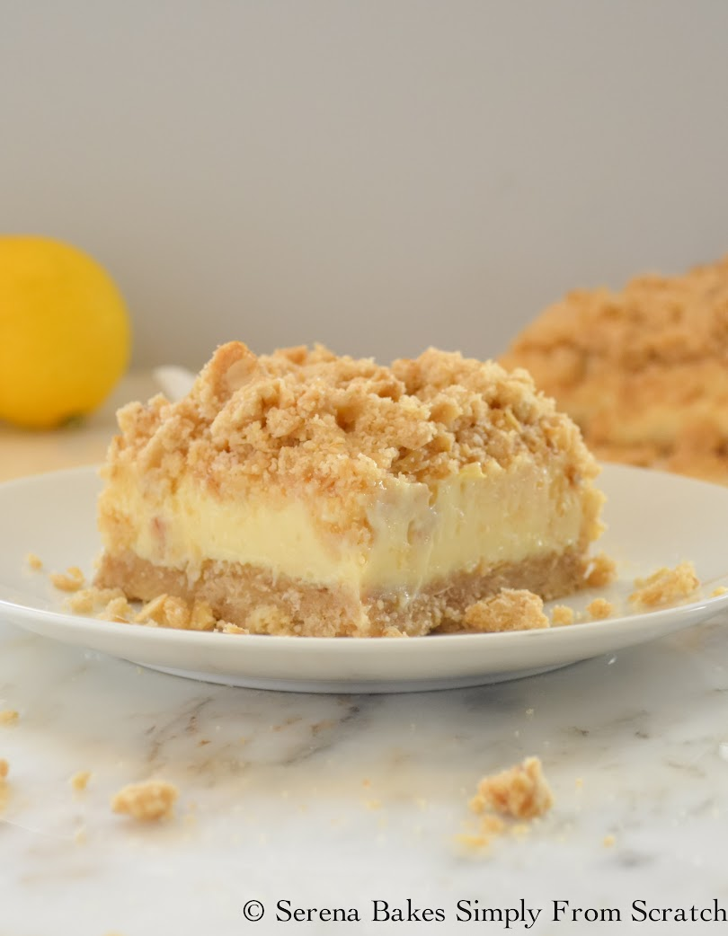 Creamy Lemon Cheesecake Crumb Bars are delicious easy recipe for Easter dessert or just to keep in the freezer.