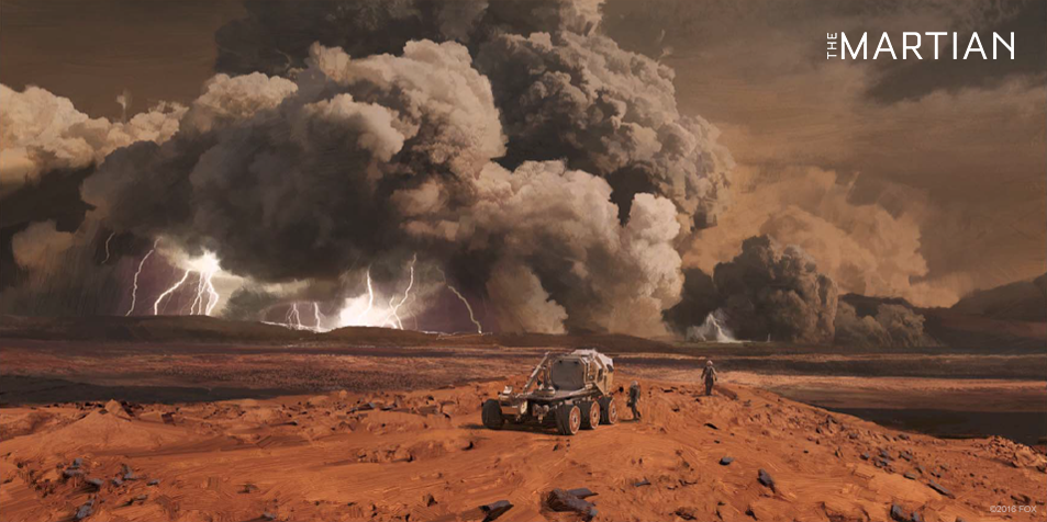Concept art for The Martian - bad weather
