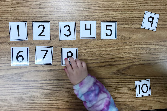 "Need some fun ideas to help with number recognition and counting for your elementary students? Be sure to check out this blog post and print the freebie! Practicing numbers and counting is made simple, with these games. They are perfect for small groups, centers, or fast finishers. One game allows for instant differentiation for students who need extra attention. Students will enjoy a change of pace to play a ""game"", while utilizing their number recognition skills {elementary, counting, freebie}"
