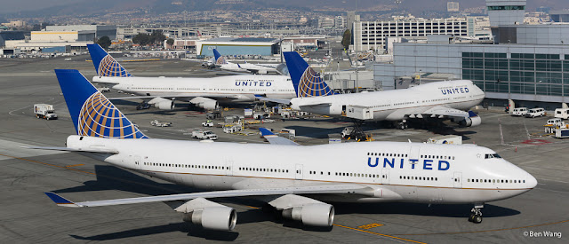 Image result for United 747 flight line