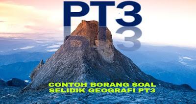 Contoh Borang Soal Selidik Geografi PT3 2018