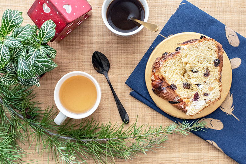 recette Brioche à la pâte d'amande et raisins