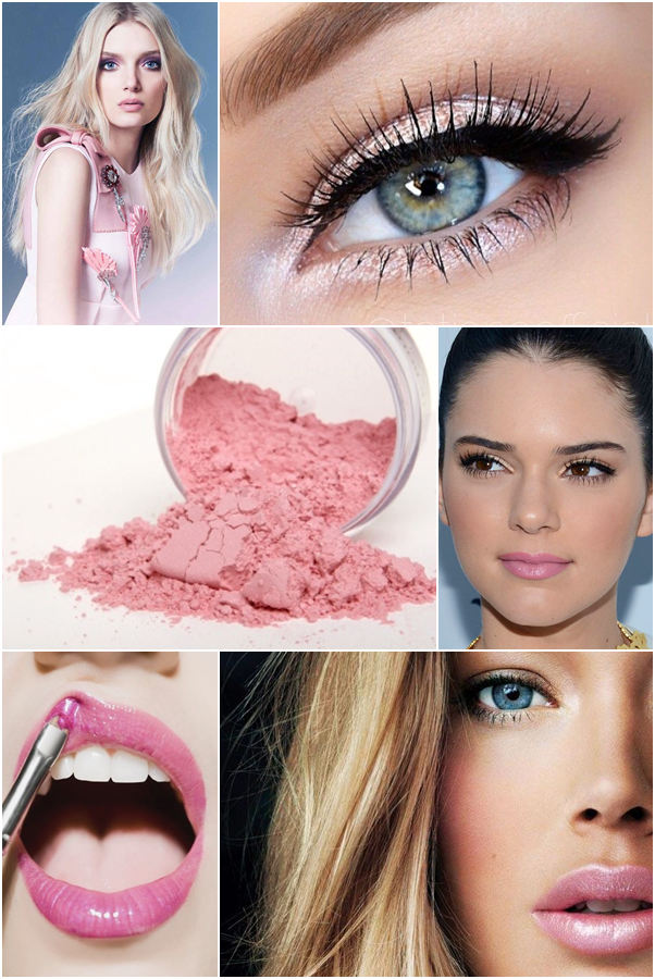 A Cor do Ano 2016: Rose Quartz Rosa Pantone Maquiagem Makeup Batom Blush Sombra