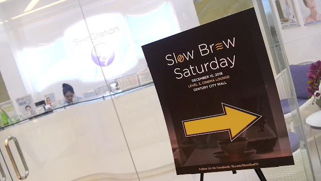 Slow Brew Ph. Last December 10, 2016, coffee fans and bloggers were gathered in a room at the Level 3, Cinema Lounge in Century Mall, Makati,