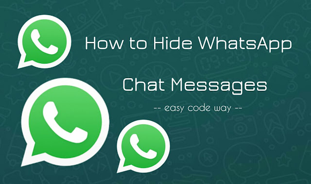 Hide WhatsApp chat messages