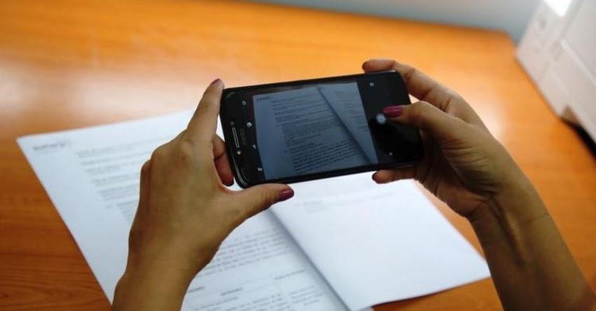 SUNARP permite tomar foto mediante celular a títulos archivados - www.sunarp.gob.pe