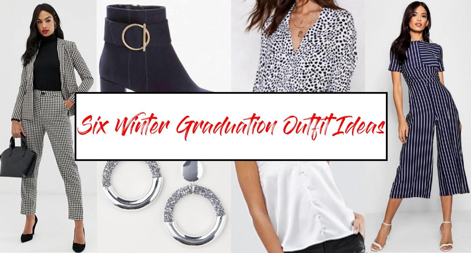 4057d2141b7 Six Winter Graduation Outfit Ideas - Studs and Flicks