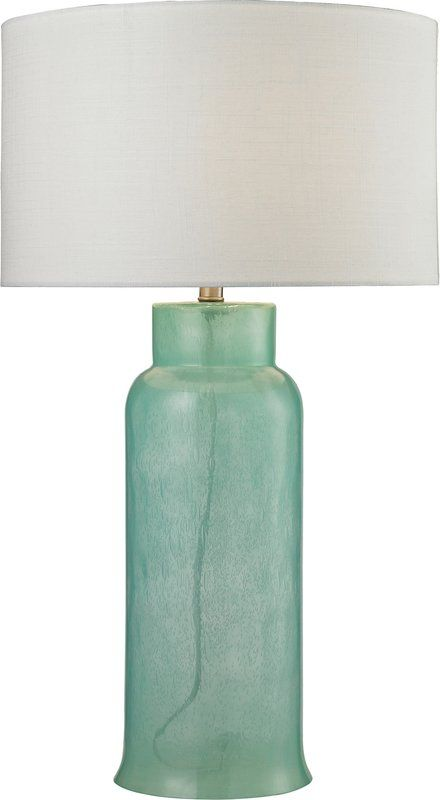 Seaglass Green Glass Table Lamp