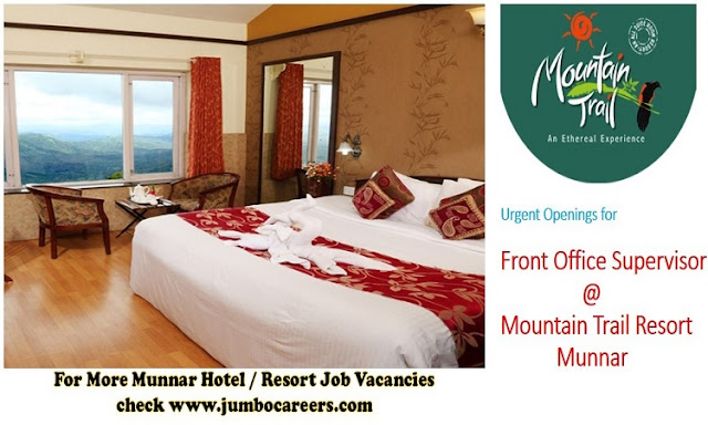 front office hotel jobs munnar December latest