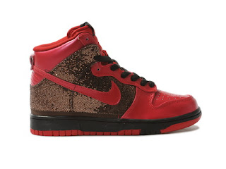 dbedc8b4f60c Buy Shinny Girls Nike High tops Sequin Sneakers Red. womens skinny footwear  nike sequin dunks