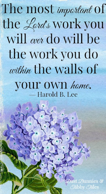 The most important work you will ever do is within the walls of your home.