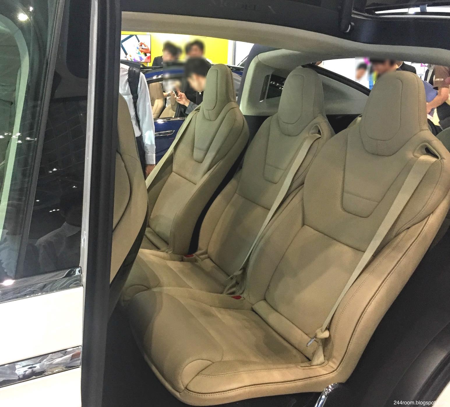 テスラモデルX座席 TESLA-ModelX-seat