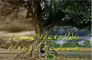 Na koi Gham Khazaan ka hai Na Khuwahish hai Baharoon ki | Amjad islam Amjad - Urdu Poetry Lovers