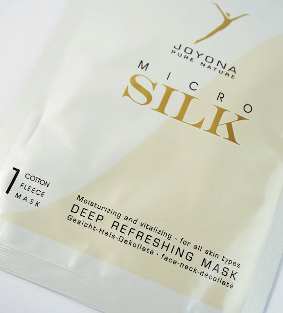 Joyona - MICRO SILK® - seidenzarte Gesichtsmasken Deep Refreshing Mask