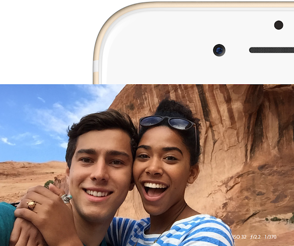 iPhone 6s Plus offers improved FaceTime camera