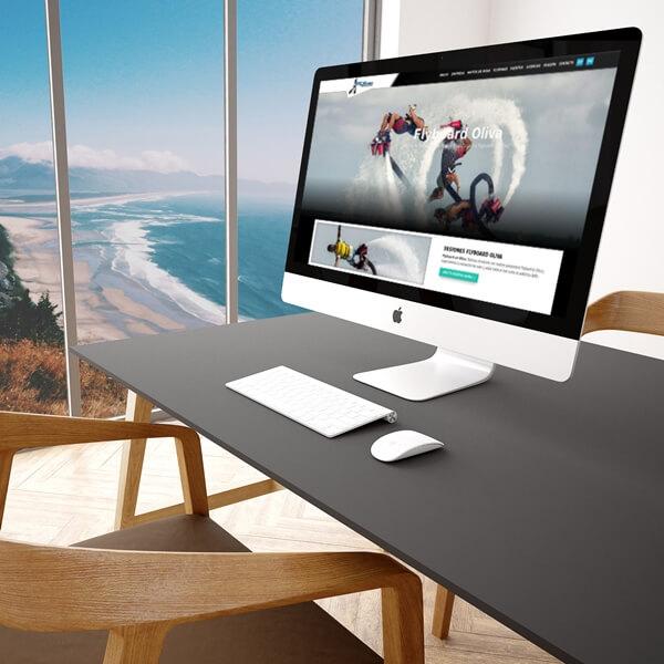 Diseño web actividades acuáticas