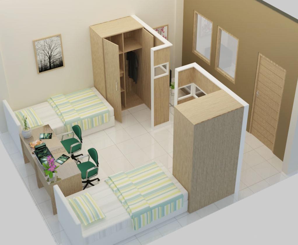 JASA DESAIN INTERIOR MURAH Jasa desain kamar rusun rumah susun